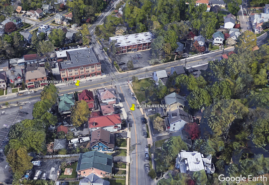 The intersection of Croton Avenue and Linden Avenue in Ossining.