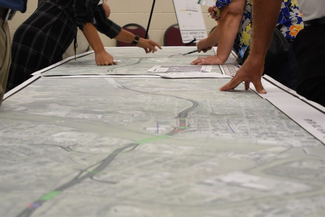 After input from a public meeting, pictured above, and submitted comments, ODOT has decided not to close the Fifth and Seventh Street I-70 bridges, as was originally proposed in the $75 million reconstruction of the interstate through Zanesville.