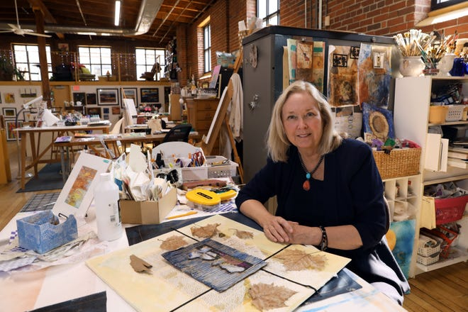 Longtime art teacher Susan Stubbins is one of the founders of the Art Loft in downtown Zanesville. The Art Loft provides studio space for four artists.