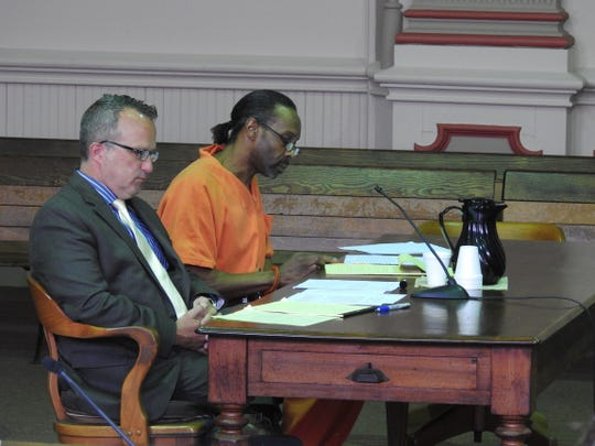 Ivan Smith is shown in this 2017 photo when he was sentenced to five years in prison on a variety of drug crimes, including cultivating marijuana, and money laundering. His charges led to the forfeiture of his business, Iroc Hair Design Studio, located at 125 State St., which was recently sold.