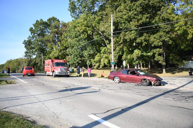 A three-car accident on Frazeysburg Road at Arrowhead Drive left at least one person injured Thursday afternoon.