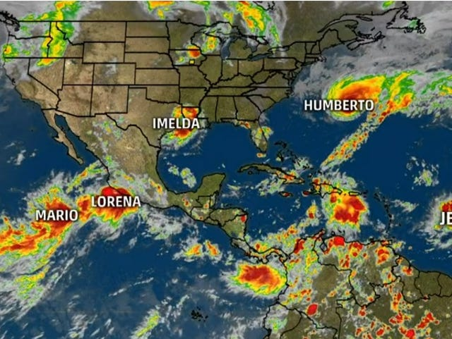 'They're forming like roaches.' The 6 tropical storms whirling at once have set a record