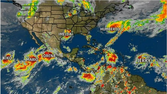 Six storms spun at the same time in the Atlantic and Pacific basins this week.