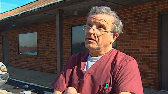 Abortion doctor Ulrich Klopfer in 2015 in South Bend, Indiana. He died Sept. 3, 2019.