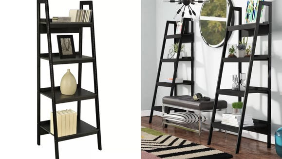 This ladder bookcase can make any room pop.