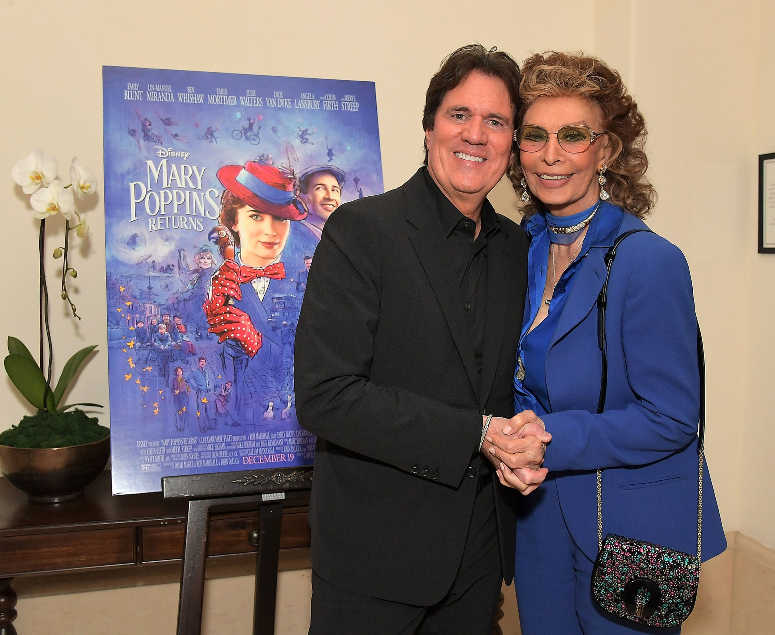 "Loren hosted a star-studded reception for ""Mary Poppins Returns"" on Jan. 11, 2019 in Beverly Hills. Director Rob Marshall was one of the guests."