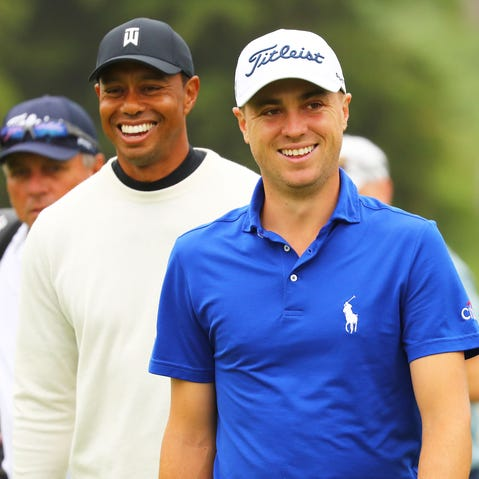 Justin Thomas told a hilarious story about getting roasted by Tiger Woods' son at the Masters