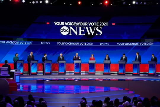 Democratic presidential debate hosted by ABC News in Houston on Sept. 12, 2019.
