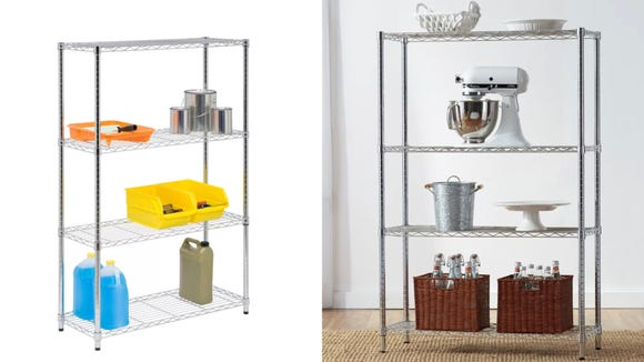 This basic shelving unit is an organizational must-have.