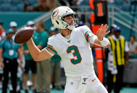Josh Rosen, QB de los Miami Dolphins.