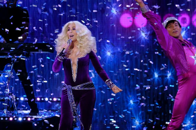 "Cher performs during the ""America's Got Talent"" finale Sept. 18."