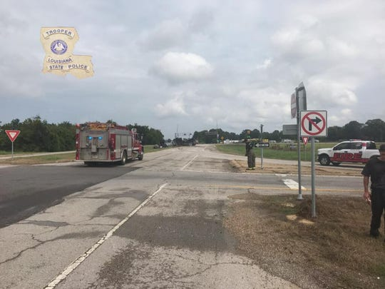 An 18-wheeler carrying hydrochloric acid has wrecked, causing the northbound lanes Interstate 49 at Rapides Station Road to be closed, according to Louisiana State Police. The road might be closed up to 10-12 hours.