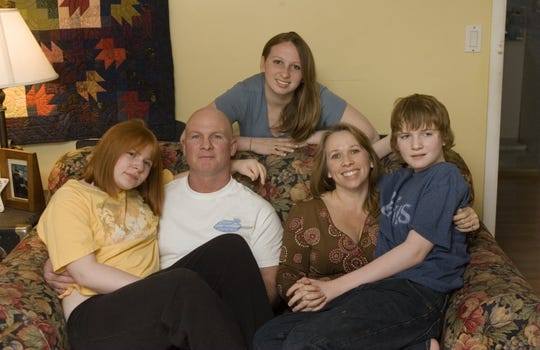 The Gallagher family of Brick in 2006: Left to right are Alana, father Bill Gallagher, Chelsea, mother Bobbie Gallagher, and Austin.