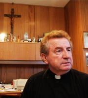 File photo of Father Brendan Williams, former pastor of St. Veronica's RC Church in Howell