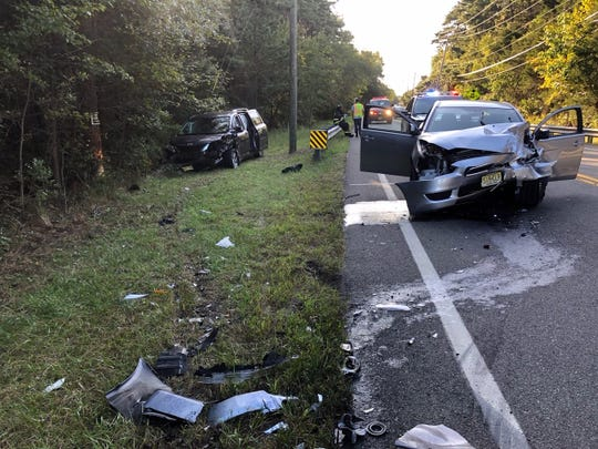 Two people were hurt in a head-on crash on Route 530 in Manchester Thursday.