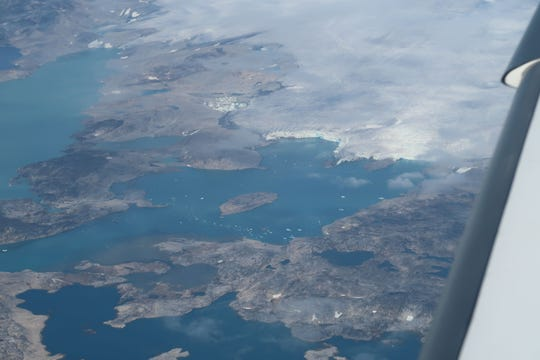A view of Greenland as Harry Anderson flew overhead this summer.