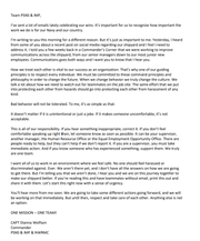 A copy of Capt. Dianna Wolfson's letter to staff of the Puget Sound Naval Shipyard, concerning sexual harassment allegations made by an employee over Facebook.