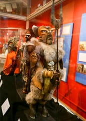 """Puppets from the 2017 movie """"Yamasong-March of the Hollows"""" are on display at the Valentinetti Puppet Museum under a long-term loan."""