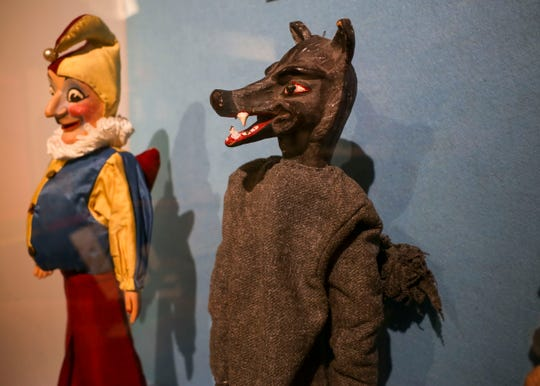 Puppets created by Aurora Valentinetti are on loan to the Valentinetti Puppet Museum, named after the University of Washington professor.