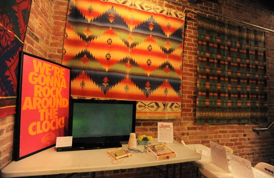 The Swannanoa Valley Museum & Heritage Center, which is hosting a Beacon Blankets Make Warm Friends Day on Oct. 5, features a display that showcases televised advertising campaigns from the former Swannanoa company.