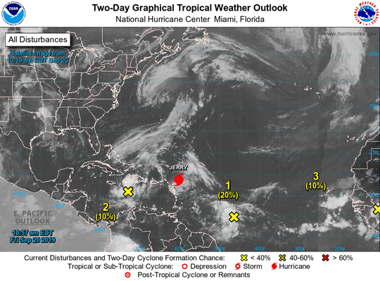 Systems in the Atlantic Basin, Sept. 20, 2019