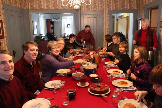 Liberty Hill Farm serves breakfast to its guests in Rochester.