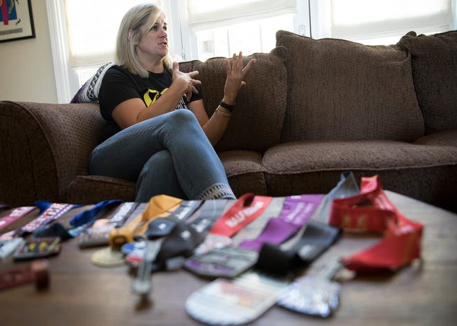 Jamie Elliott talks about the ordeal her and her family had to go through when their youngest daughter Samantha was diagnosed with Osteosarcoma in 2005 in her home in Chillicothe, Ohio.