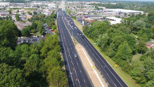 Third lane opening on eastbound Route 32