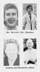 SEPTEMBER 25, 1969: The four victims killed at Cabinet Supreme Savings & Loan Association in Delhi Township; clockwise from top left: Lillian Dewald, Helen Huebner, Henrietta Stitzel, Luella Stitzel.