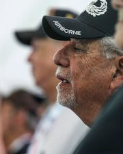 A veteran sheds a tear during a Welcome Home ceremony for Vietnam War veterans and others from conflicts who never experienced a Welcome Home on Thursday, Sept. 19, 2019, at Army Airfield Hangar 3 at Fort Campbell.