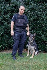 Sergeant Joey Scruggs and his partner, Solo