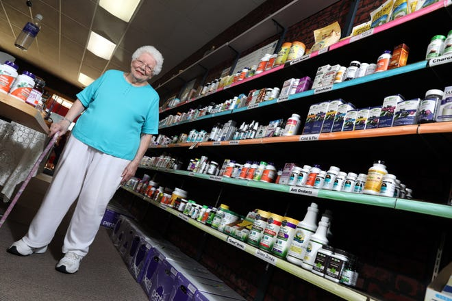 Marilyn Wiley has been running her store Marilyn's Natural Foods in downtown Coshocton for 40 years.