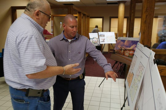 The City of Carlisle held an open house Sept. 19 at the site of the new city hall to show off facility plans for the public library, the police department and the new city hall.