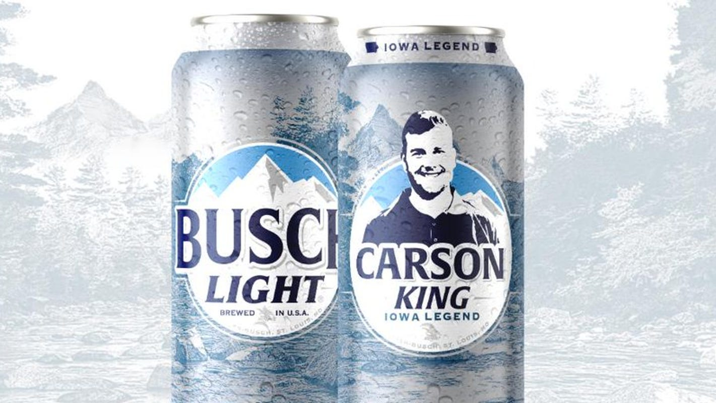 Petition near 20,000 signatures to get 'Iowa Legend' Carson King's face on their beer cans