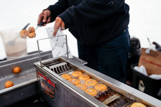 """For the entire month of October, Beacon Park in Detroit will be hosting their """"Cider in the City"""" event with fresh cider and doughnuts and other family-friendly activities"""
