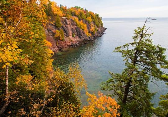 Presque Isle Park in Marquette on Lake Superior