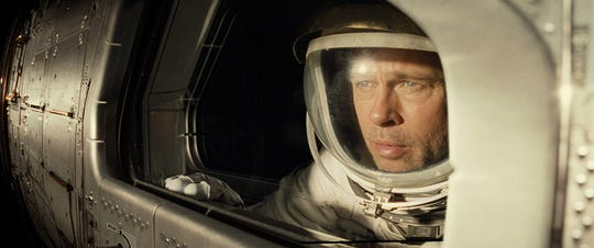 "Brad Pitt in ""Ad Astra,"" which is in theaters now."