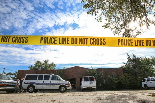 Officers from the Fort Wayne Police Department search the building that once housed an abortion clinic owned by Dr. Ulrich Klopfer on Thursday, Sept. 19, 2019, in Fort Wayne, Ind. After the doctor's death on Sept. 3, more than 2,000 medically preserved fetal remains were found in the garage of his home in rural Crete, Ill.