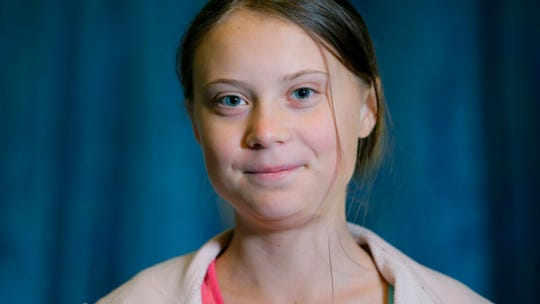 """Swedish environmental activist Greta Thunberg poses during an interview with The Associated Press before participating in the """"Global Climate Strike,"""" at City Hall, Friday, Sept. 20, 2019, in New York."""