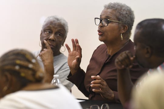 Virginia Park resident Joyce Moore said she'd like to know more about what's planned for the old Herman Kiefer complex.