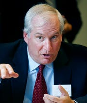 This Thursday, Oct. 16, 2014 file photo shows President and CEO of the Federal Reserve Bank of Boston Eric Rosengren in Chelsea, Mass. Rosengren,s who opposed the September 2019 quarter-point rate cut, says that the additional stimulus was not needed.