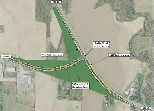 A conventional signal at County Road 198 and U.S. 20 could bring fewer crashes to the area. But start and stop traffic due to lights could mean longer delays for motorists.