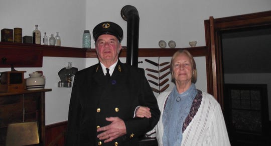 Ed Miller and Ann Sheridan play Capt. William and Julia Duclon, keepers of Eagle Bluff Lighthouse for 35 years, for tours of the light. They will be part of the upcoming Twilight Tours, Tunes & Tales at Eagle Bluff.