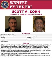 A copy of the FBI wanted poster for Scott Kohn.