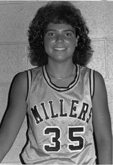 Courtney Cox Cole is shown in 1988 as an Indiana All-Star who played for  Noblesville.