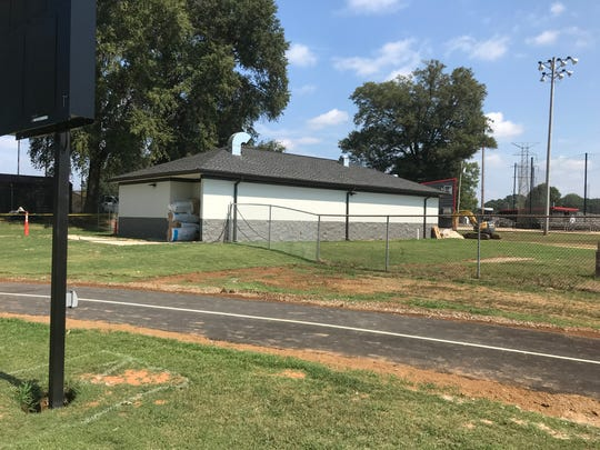 The South Side High School football stadium renovations included a building with a locker room and restrooms for visiting teams and soccer, baseball and softball teams. Plumbing is the last thing that needs to be finished at the facility.
