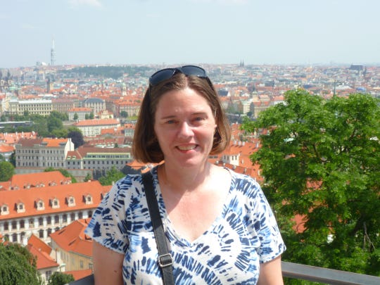 Melanie Stone visits Prague, Czech Republic, June 2019.