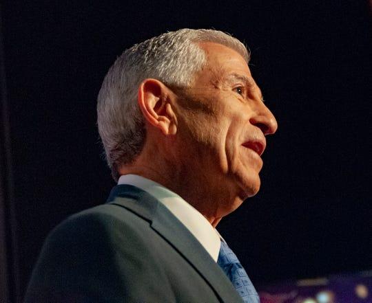 Gubernatorial candidate Eddie Rispone speaks during the gubernatorial debate on Thursday, Aug. 19, 2019, in the LSU Student Union Theater