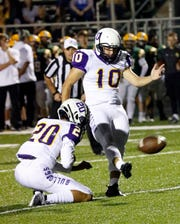 Bloom-Carroll senior kicker Cameron Shirkey was named Division IV All-Ohio first team.