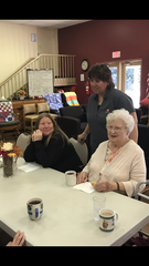 The Salvation Army's Samaritan Center program director Kelley Bauman talks with Sarah Brokaw (left) and Mary Staten Thursday during activities at the adult day care services center.